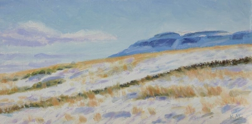 'Fintry Hills, snowy fields'