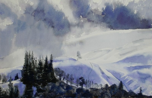 'Snow storm, Fintry' SOLD