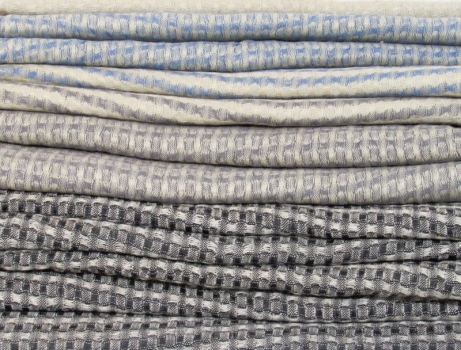 Cotton & linen colour & weave scarves