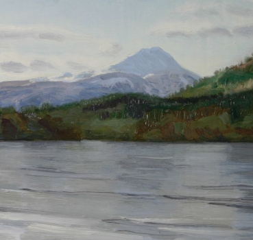 'Lake of Menteith with Ben Lomond'. Very low stock.