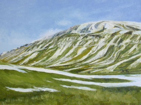 'Snow melt. Fintry Hills'