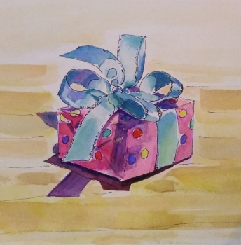 'Little box with Blue Bow'