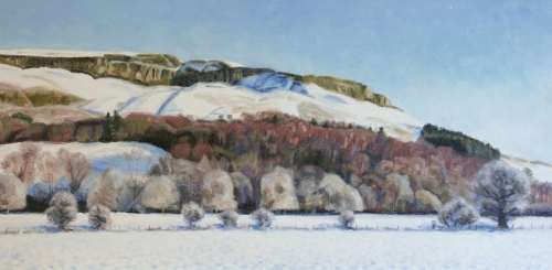 'Fintry Hills in Snow, from the Kirk end of Fintry'